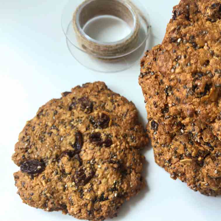 Chia cookies is the best choice for crispy