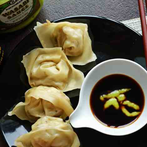 Vegan Wonton-healthy Chinese appetizer for