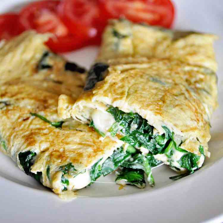 Spinach - Cheese Omelette