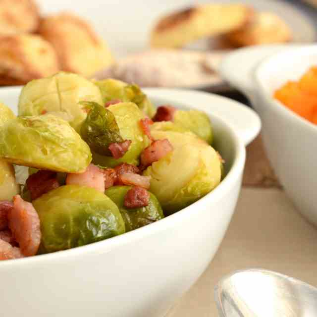 Brussels Sprouts with Pancetta and Orange