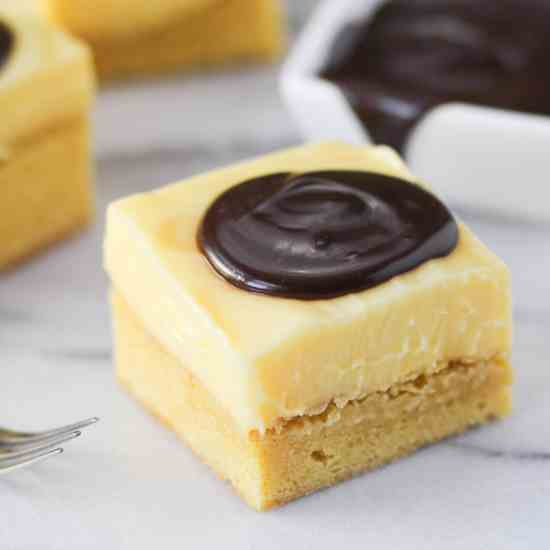 Boston Cream Pie Bars