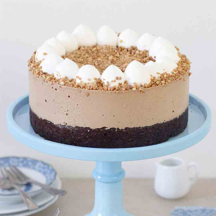 Coffee Mousse Cake with Chocolate