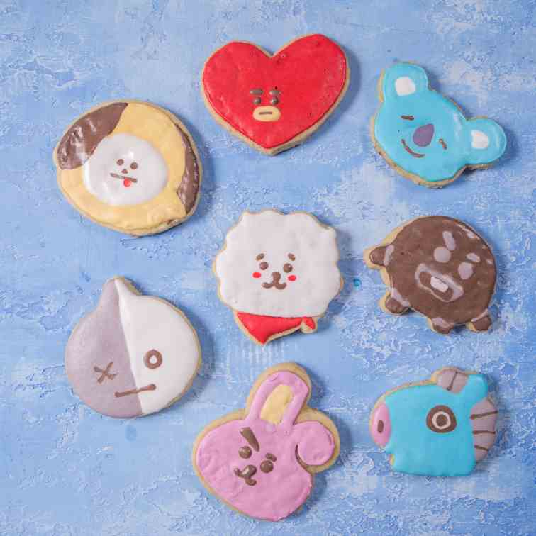 BTS BT21 Sugar Cookies