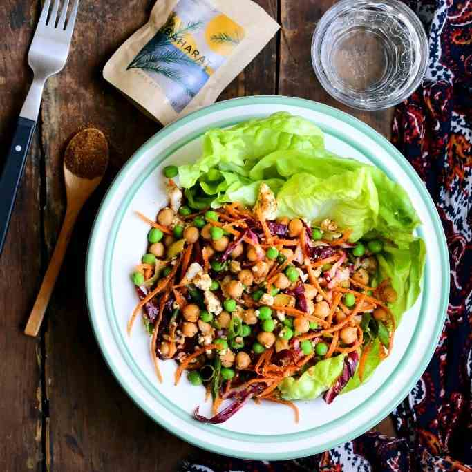 Baharat Chickpea and Butter Lettuce Salad
