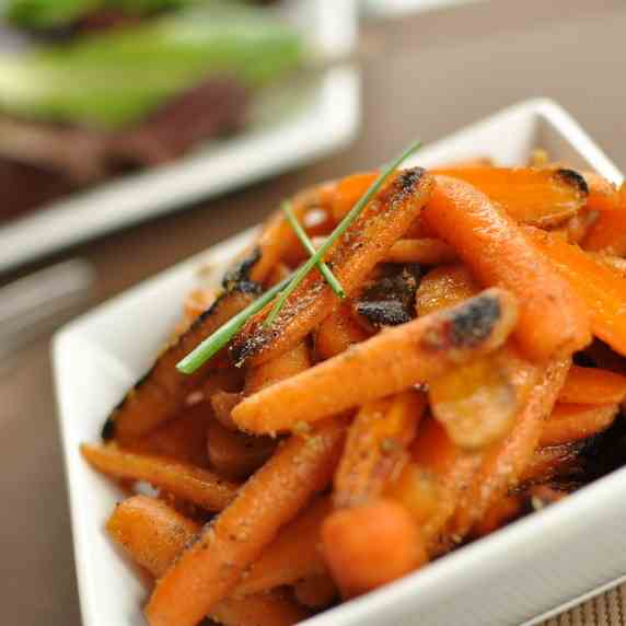 Brown Butter and Ginger Glazed Carrots