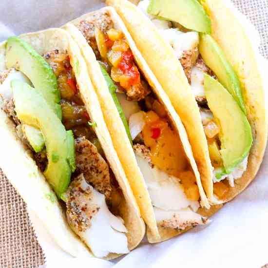 Almond Crusted Cod - Fish Tacos