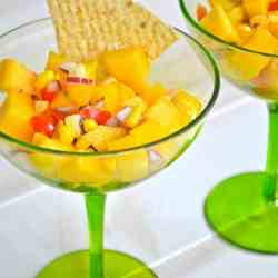 Peach, Mango and Corn Salsa
