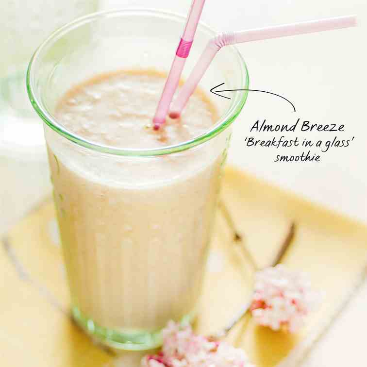 Breakfast in a glass smoothie