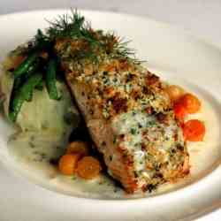 Macademia Crusted Salmon