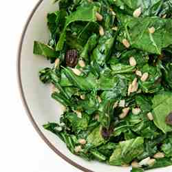 Collards with Sunflower Seeds & Raisins