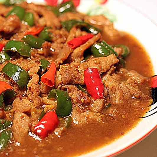 Taucu sliced pork with chilli