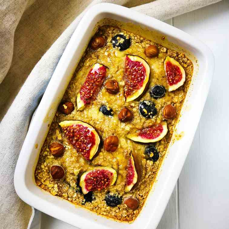 Blueberry - Fig Baked Porridge