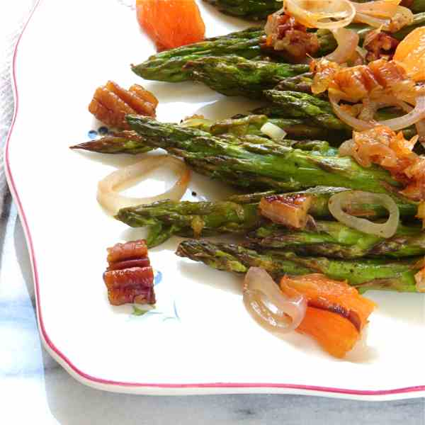 oven roasted asparagus with oranges