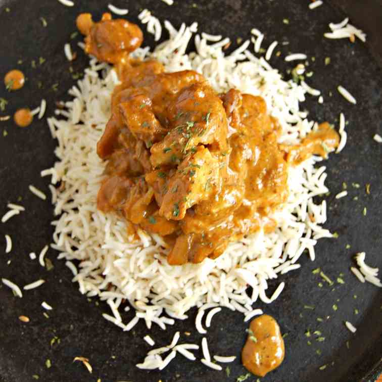 Indian Butter Chicken and Spiced Rice