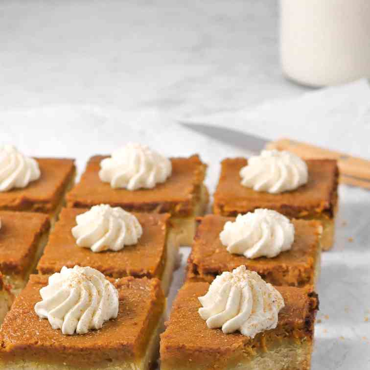 Pumpkin Pie Bars with Shortbread Crust