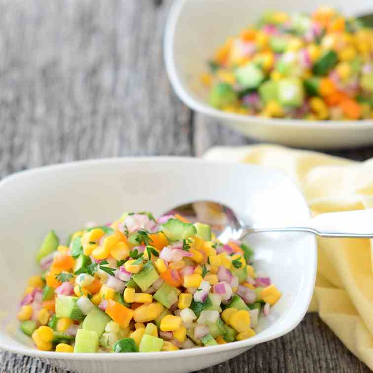 Cucumber Corn Relish Salad