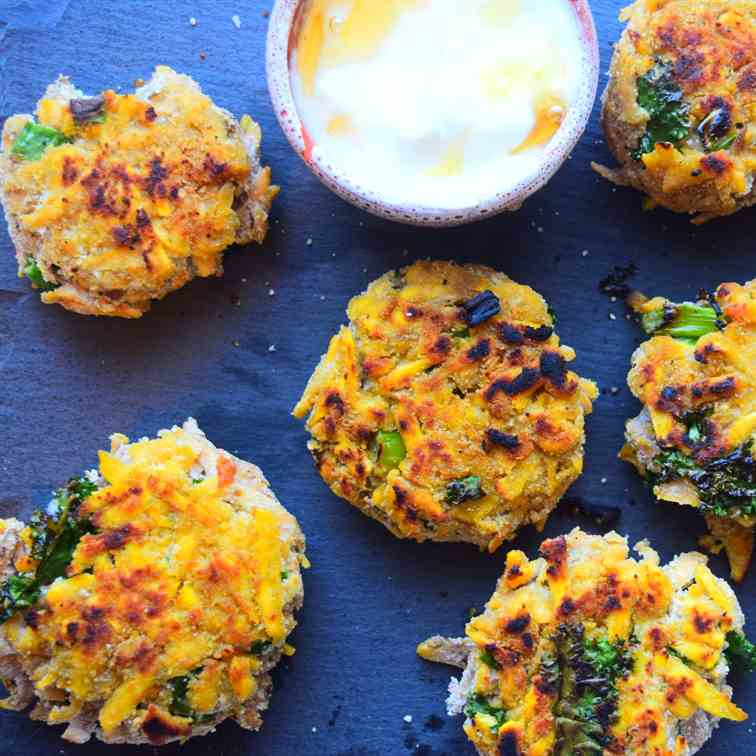 Plantain Fritters With Honey - Yoghurt