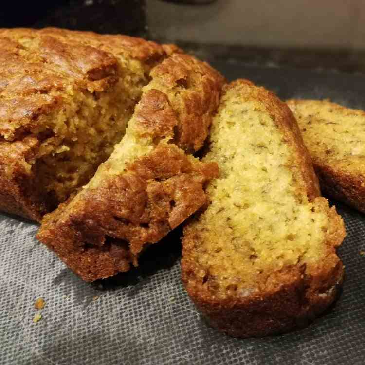 Low Fat Eggless Banana Bread