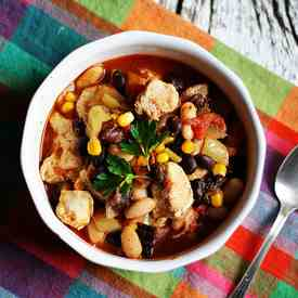 Chicken Chili with Black Beans & Corn