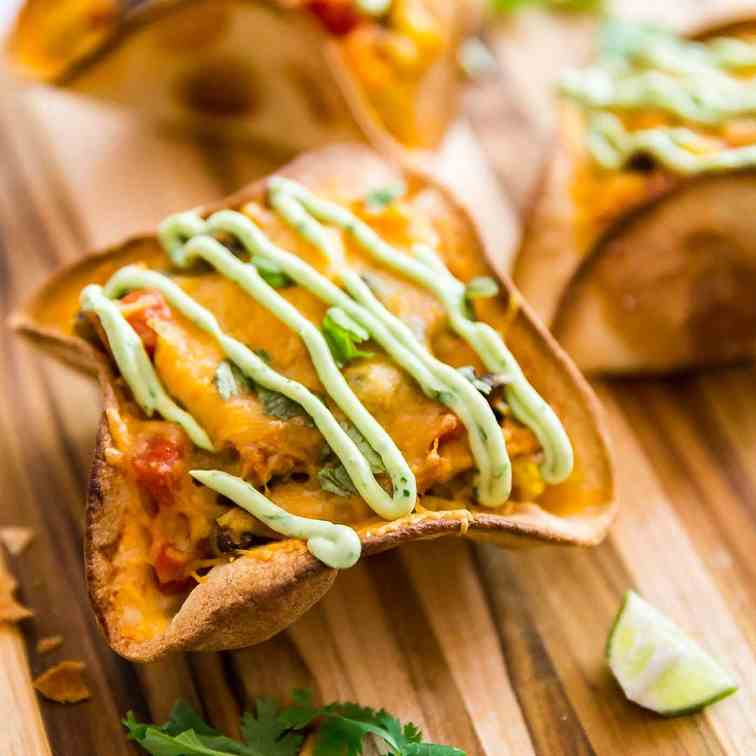 Cheesy Chicken Taco Bowls