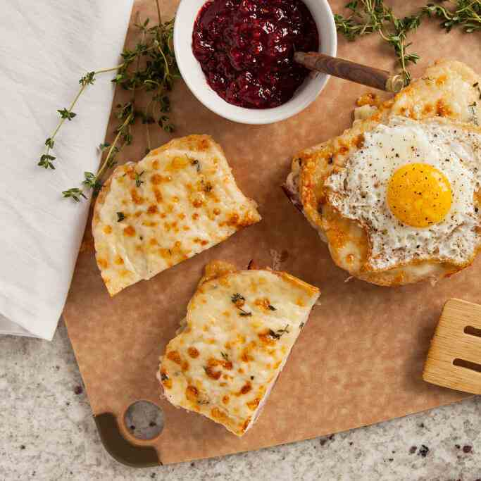 Croque Monsieur with Raspberry Preserves