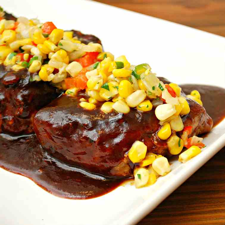 BBQ Pork Chops with Corn Relish