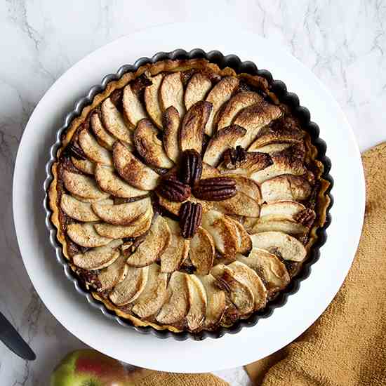 Spiced Apple and Pecan Tart