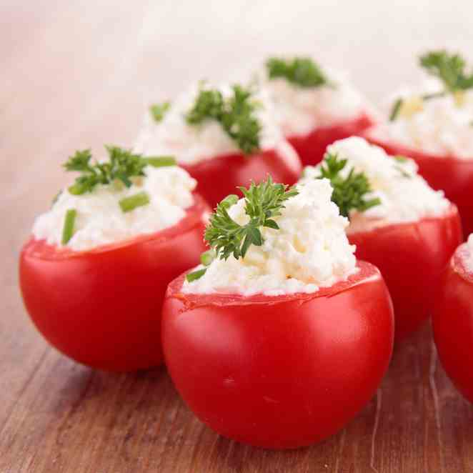 Stuffed Tomatoes With Goats Cheese