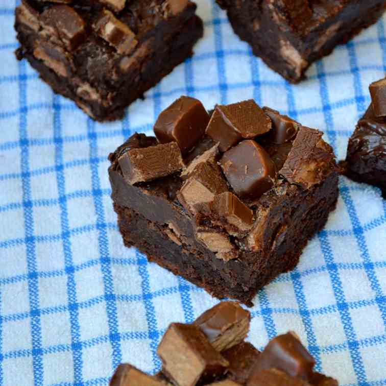 Three Musketeers Fudge Brownies