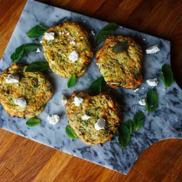 Air Fryer Zucchini And Feta Fritters