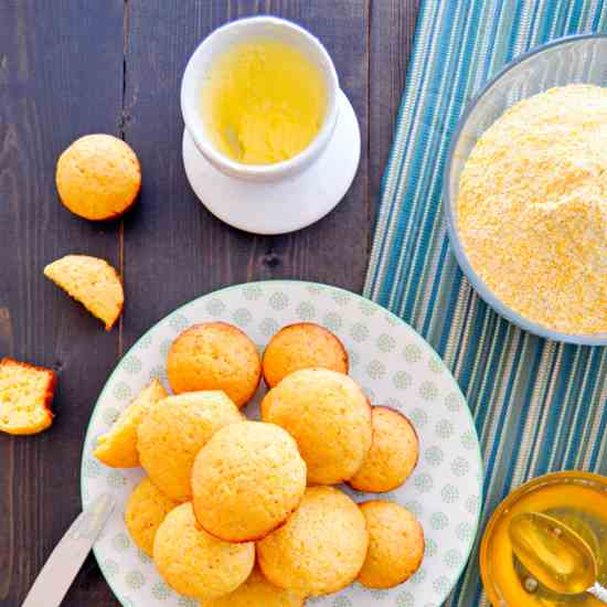 Mini Honey Cornbread Muffins