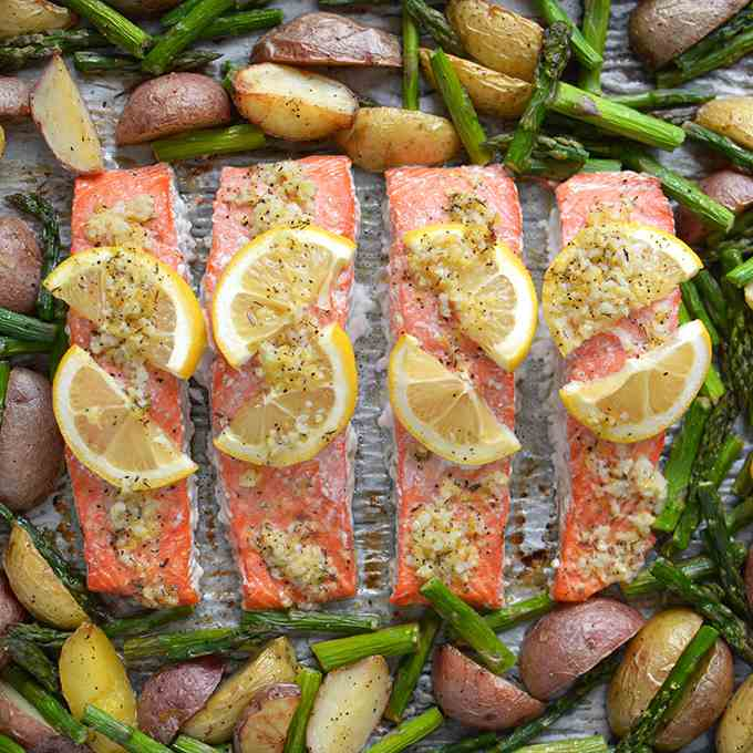 Sheet Pan Lemon Pepper Salmon