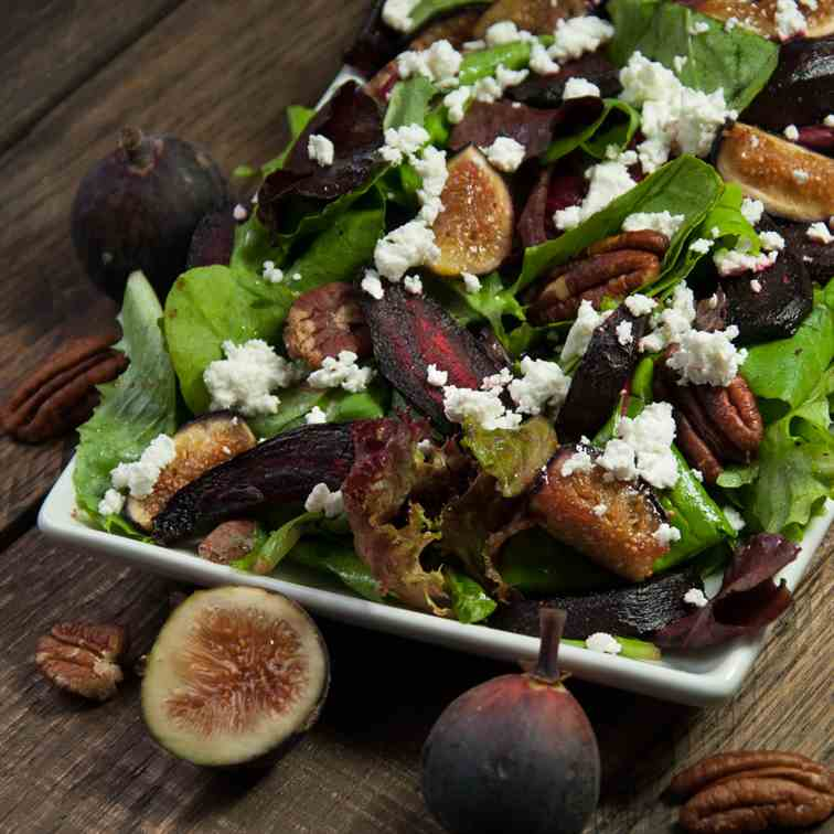 Beet Salad with Feta and Figs