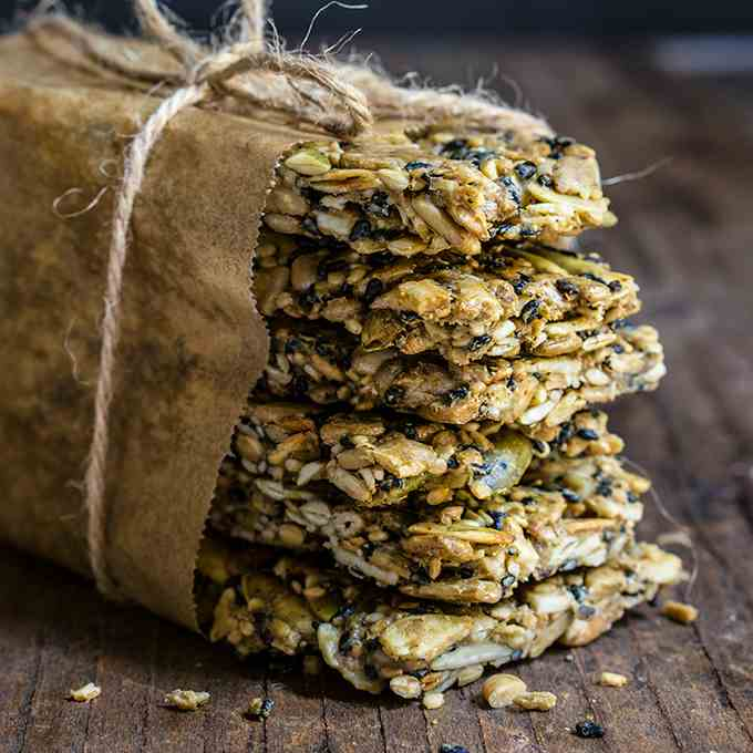 Savory sunflower seed bars
