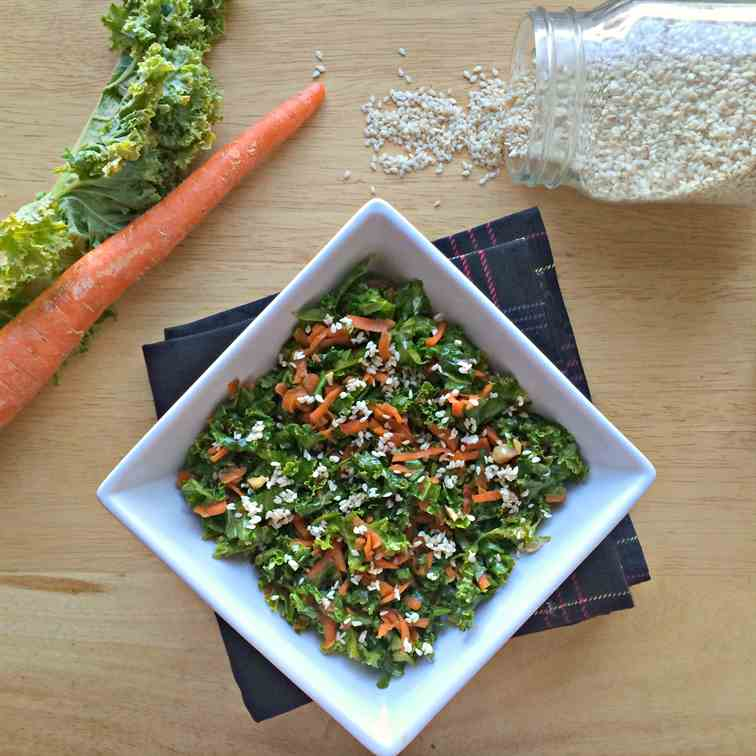 Massaged Asian Kale Salad