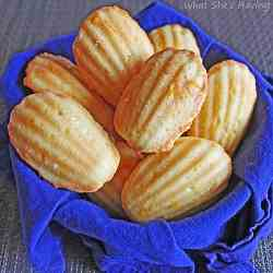 Orange Glazed Madeleines
