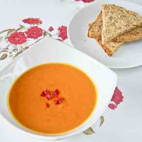 Sweet Potato and Chorizo Soup