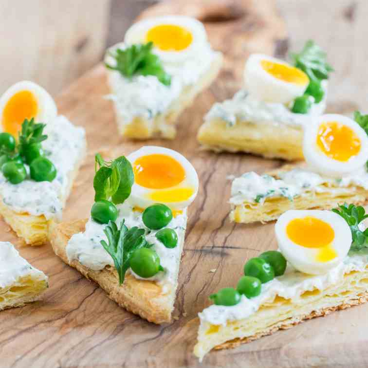 Pea and Quail Egg Triangles