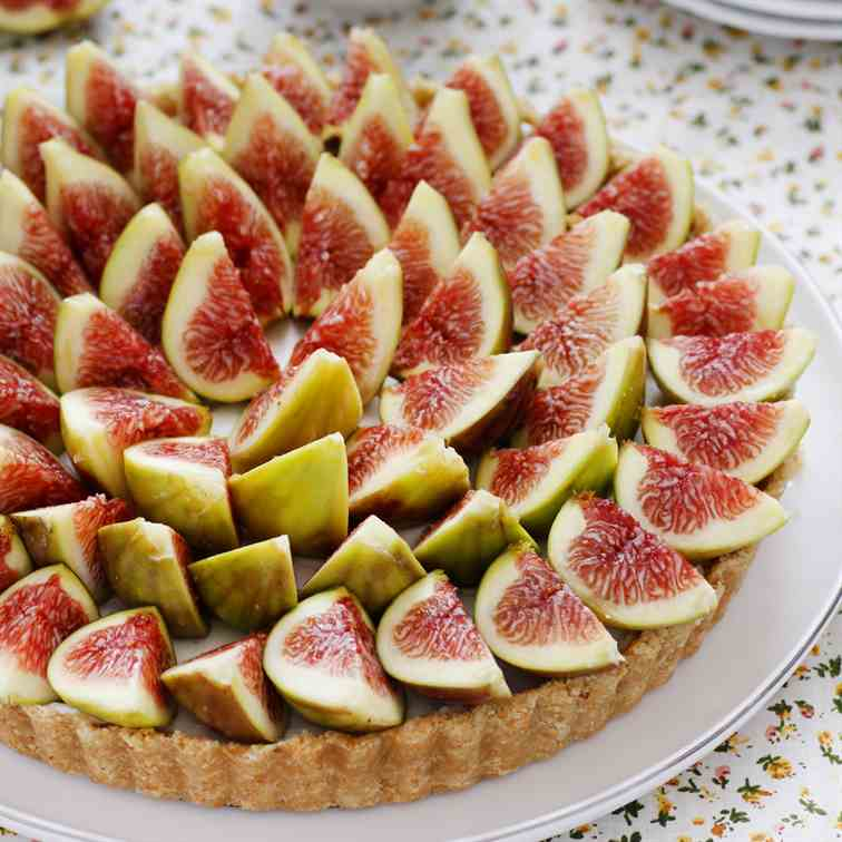 No-bake Fig and Marzipan Pie