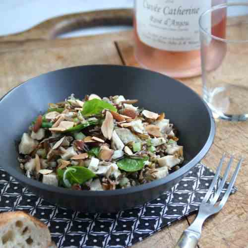 Chicken with Wild Rice, and Watercress