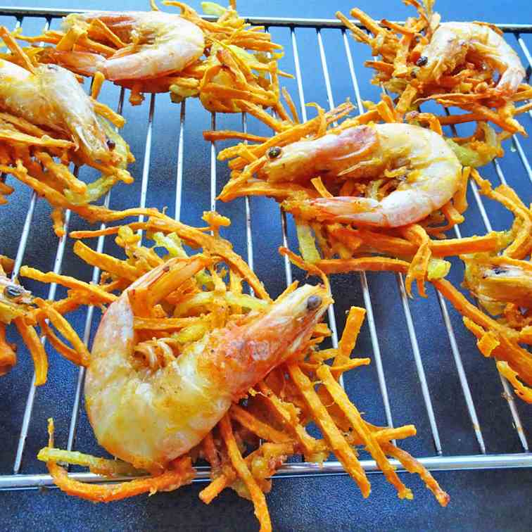 Prawn - Sweet Potato Fritters
