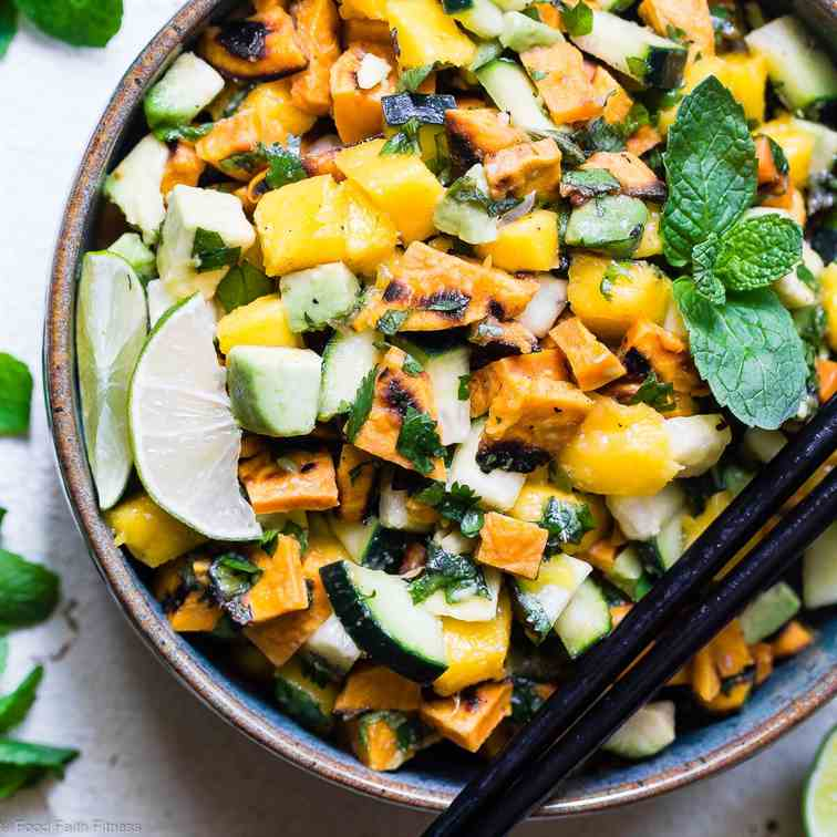 Thai Mango Sweet Potato Salad