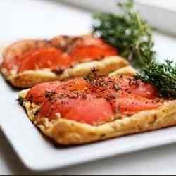 Perfect tomato and goat cheese tart