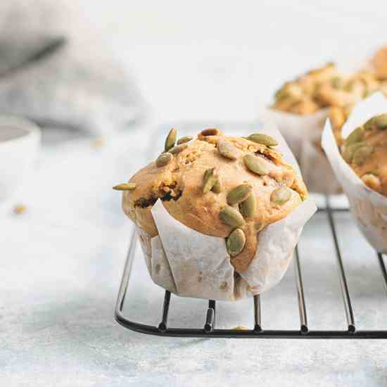 Egg Free Onion - Pea Muffins