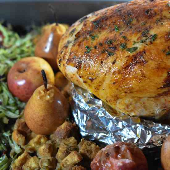 Elegant One Pan Turkey Dinner