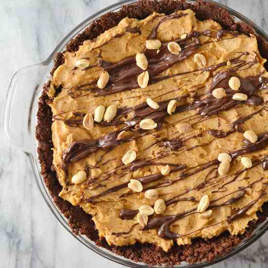 Spicy Chocolate Peanut Butter Pie