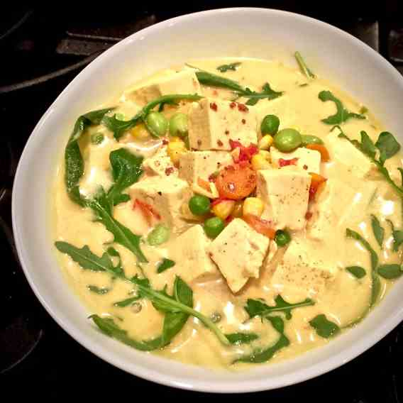 Warm and Healthy Vegetarian Coconut Curry