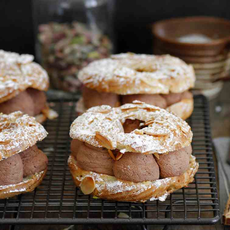 Chocolate Almond Paris Brest