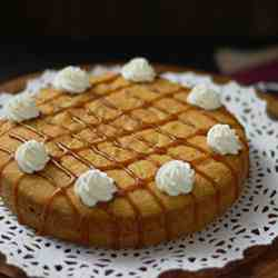 Butternut Squash Cake with Caramel Sauce