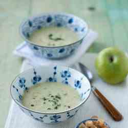 Parsnip and Apple Soup with Ginger